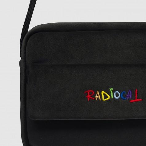 "Мессенджер велюр черный ""Rainbow"" Radiocat"