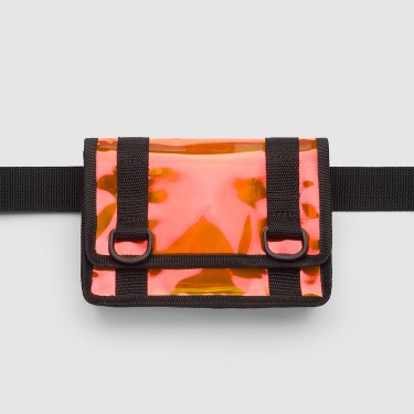 Сумка-клатч на пояс з помаранчевим переливом Radiocat
