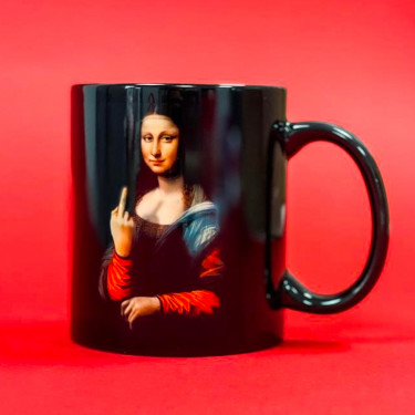 "Чашка ""Mona Lisa - Fuck"" CENSORED"
