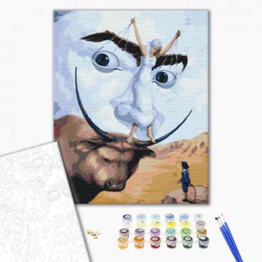 """Картина по номерам """"Абстракция Дали"""" Brushme"""