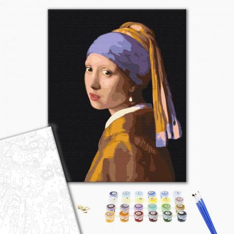 """Картина за номерами """"Дівчина з перловою сережкою"""" Brushme"""