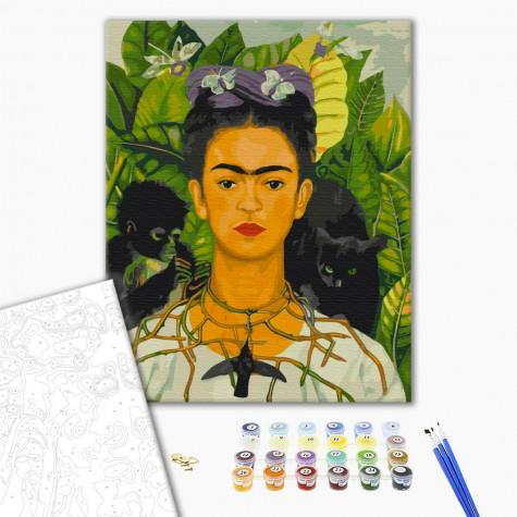 """Картина по номерам """"Фрида Кало, автопортрет"""" Brushme"""