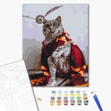 """Картина по номерам """"Котик ловец снитча"""" Brushme"""