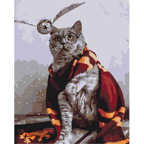 "Картина за номерами ""Котик ловець снітчу"" Brushme"