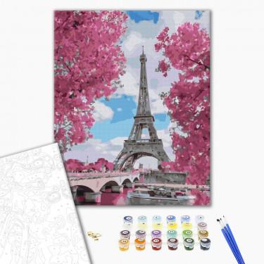 """Картина по номерам """"Магнолия в Париже"""" Brushme"""