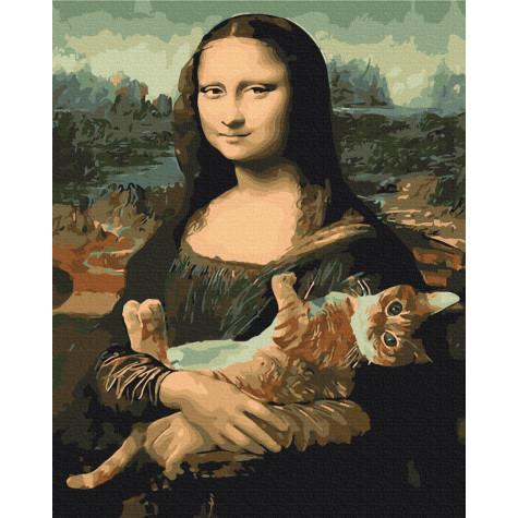 "Картина за номерами ""Мона Ліза з котом"" Brushme"