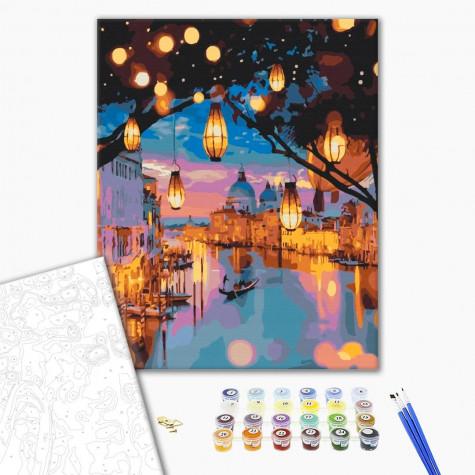 """Картина по номерам """"Ночные огни Венеции"""" Brushme"""