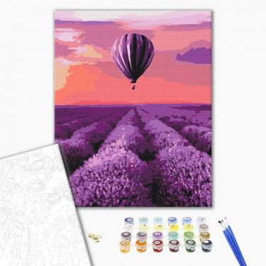 """Картина по номерам """"Воздушный шар в провансе"""" Brushme"""