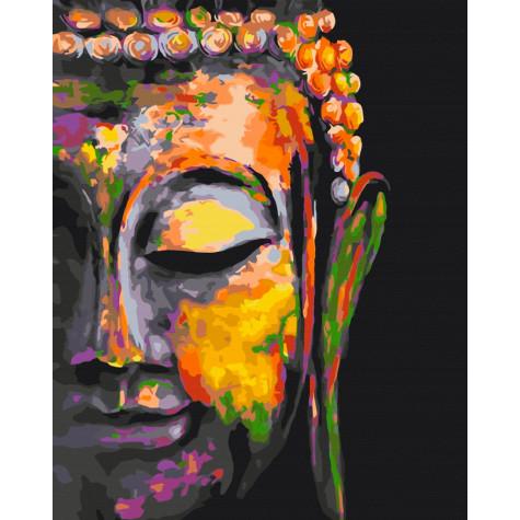 """Картина за номерами """"Різнобарвний Будда"""" Brushme"""
