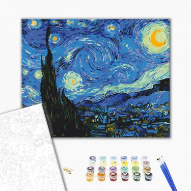 "Картина за номерами ""Зоряна ніч"" Brushme"