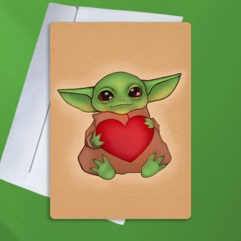 """Листівка """"Дитя Грогу"""" (Baby Yoda)"""