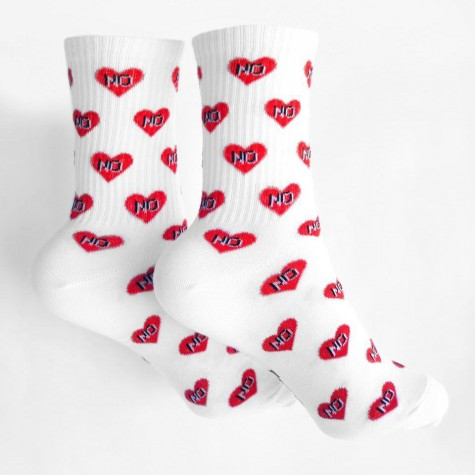 "Шкарпетки білі ""No Love"" 1and1"