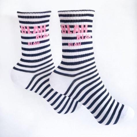 """Шкарпетки білі смугасті """"BLAH BLAH BLAH"""" 1and1"""