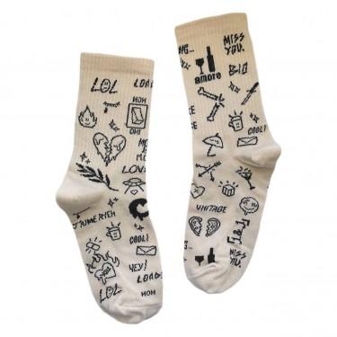 """Шкарпетки бежеві """"Tattoo"""" 1and1"""