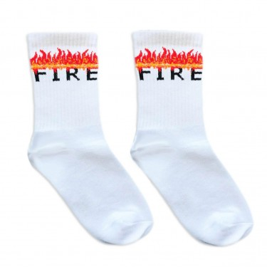 """Шкарпетки білі """"Fire"""" 1and1"""