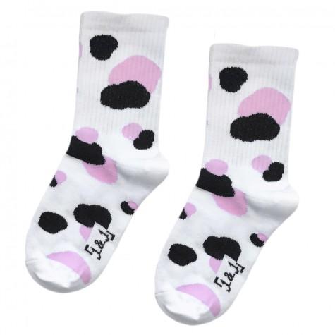 """Шкарпетки білі """"Плями"""" 1and1"""