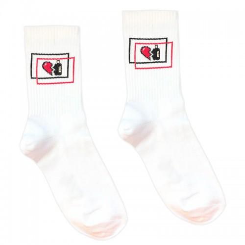 """Шкарпетки білі """"Вино-серце"""" 1and1"""