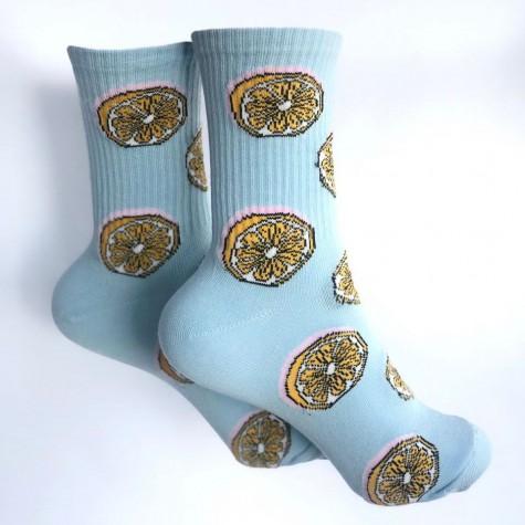 """Шкарпетки блакитні """"Лимони"""" 1and1"""