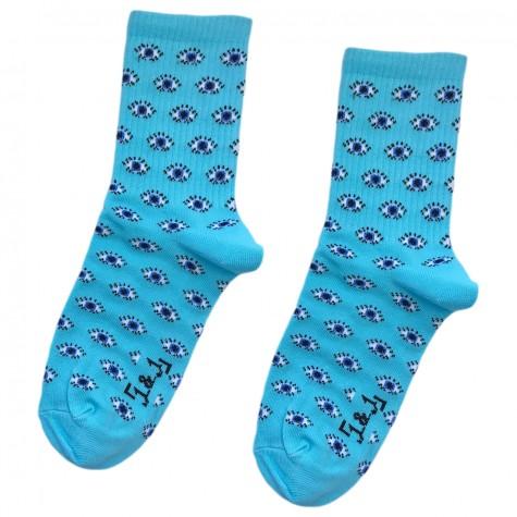 """Шкарпетки блакитні """"Очі"""" 1and1"""