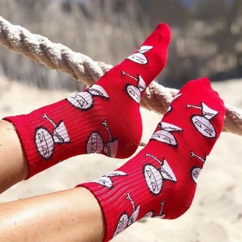"""Шкарпетки червоні """"Отвали"""" 1and1"""