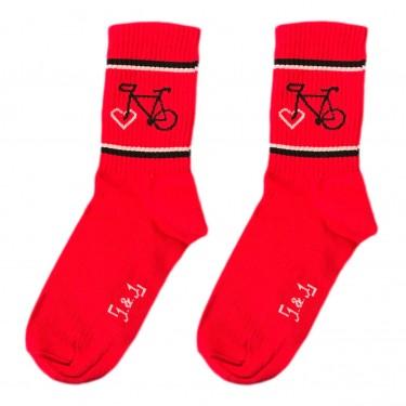 """Носки красные """"ВелоLove"""" 1and1"""
