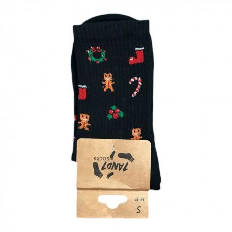 "Шкарпетки чорні теплі ""Christmas Mood"" 1and1"