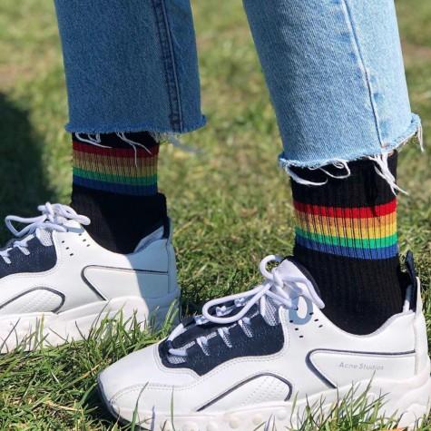 """Шкарпетки чорні """"Райдуга"""" 1and1"""