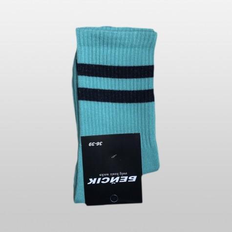 """Шкарпетки базові """"Бірюзові"""" з чорними смугами Бейсік"""