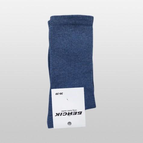 """Шкарпетки базові """"Сині Меланж"""" Бейсік Моно"""