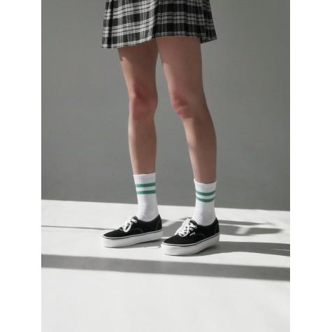 """Шкарпетки базові """"Білі Green Stripes"""" Бейсік"""