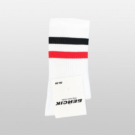 """Шкарпетки базові """"Білі Black-Red Stripes"""" Бейсік"""