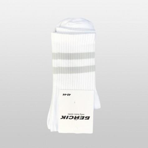 """Шкарпетки базові """"Білі Grey Stripes"""" Бейсік"""