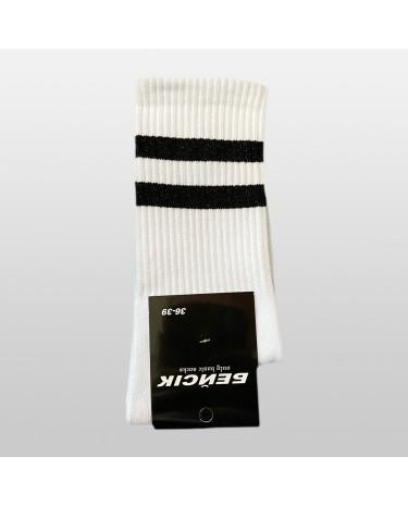 """Шкарпетки базові """"Білі з чорними смугами"""" Бейсік"""