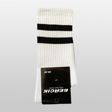 """Носки базовые """"Белые с черными полосками"""" Бейсик"""