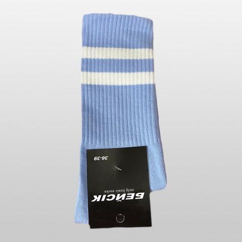 """Носки базовые """"Голубые с белыми полосками"""" Бейсик"""