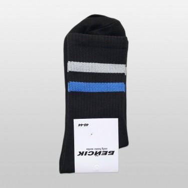 """Носки базовые """"Черные Grey-Blue Stripes"""" Бейсик"""