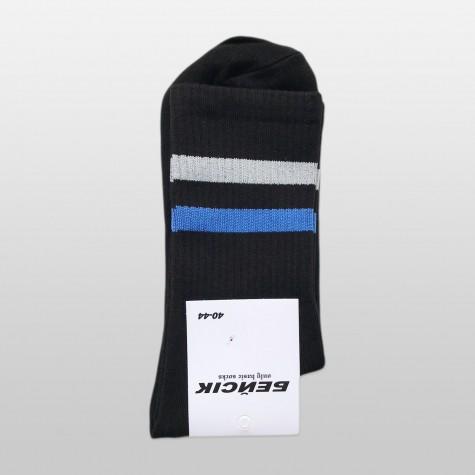 """Шкарпетки базові """"Чорні Grey-Blue Stripes"""" Бейсік"""