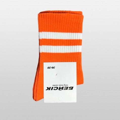 """Шкарпетки базові """"Помаранчеві з білими смугами"""" Бейсік"""