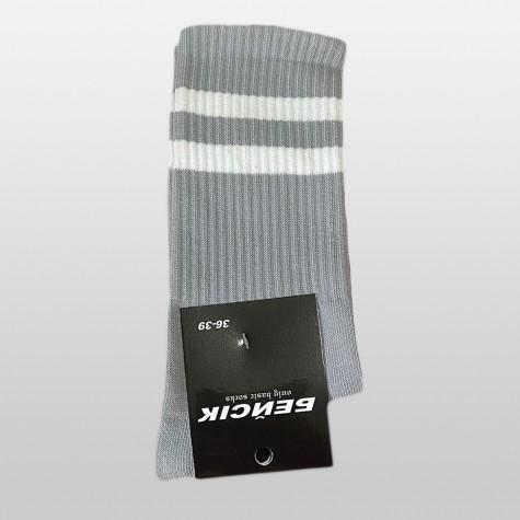 """Шкарпетки базові """"Сірі з білими смугами"""" Бейсік"""
