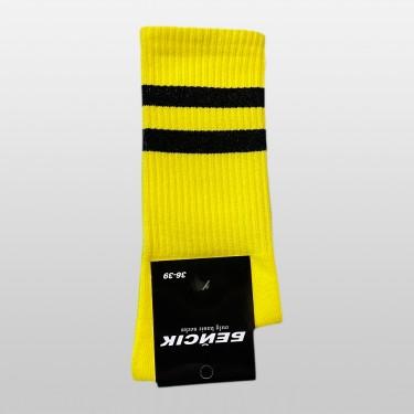 """Шкарпетки базові """"Жовті з білими смугами"""" Бейсік"""