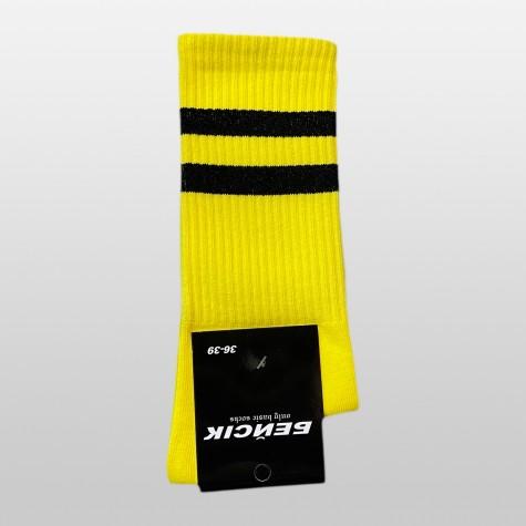 """Носки базовые """"Желтые с белыми полосками"""" Бейсик"""