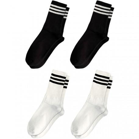 Набор носков 4 пары Black & White Mix Blankful