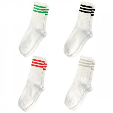 Набор носков 4 пары белые с разными полосками Blankful