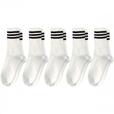 Набор носков 5 пар белые с черными полосками Blankful