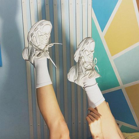 Набір білих однотонних шкарпеток 4 пари Blankful