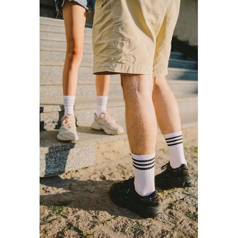 Набір шкарпеток 4 пари білі з різними смугами Blankful