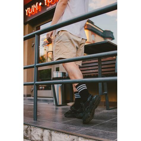 """Шкарпетки базові """"Чорні з трьома білими смугами"""" Blankful"""