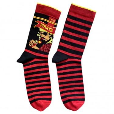 """Носки красно-черные """"Петарды Pirate"""" Дед Носкарь"""