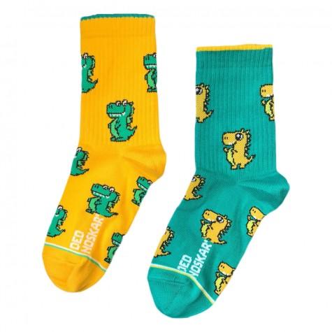 """Носки желто-зеленые детские """"Драко"""" Дед Носкарь"""