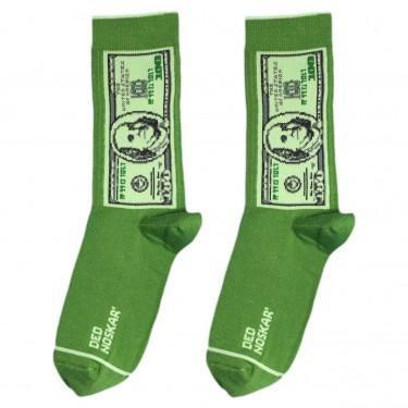 """Шкарпетки зелені """"100 доларів"""" Дед Носкарь"""